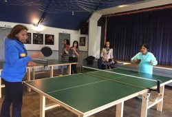 Trinjan launched Table Tennis and Aerobic/Dance Project for Women in March 2017