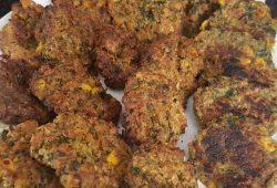Poha, semolina and oats veg baked tikkis